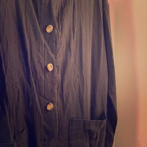 Black Boiler Suit w/Long Sleeves